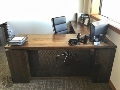 Reclaimed White Pine Custom Corporate Desk
