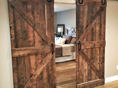 Reclaimed Wood Sliding Barn Doors