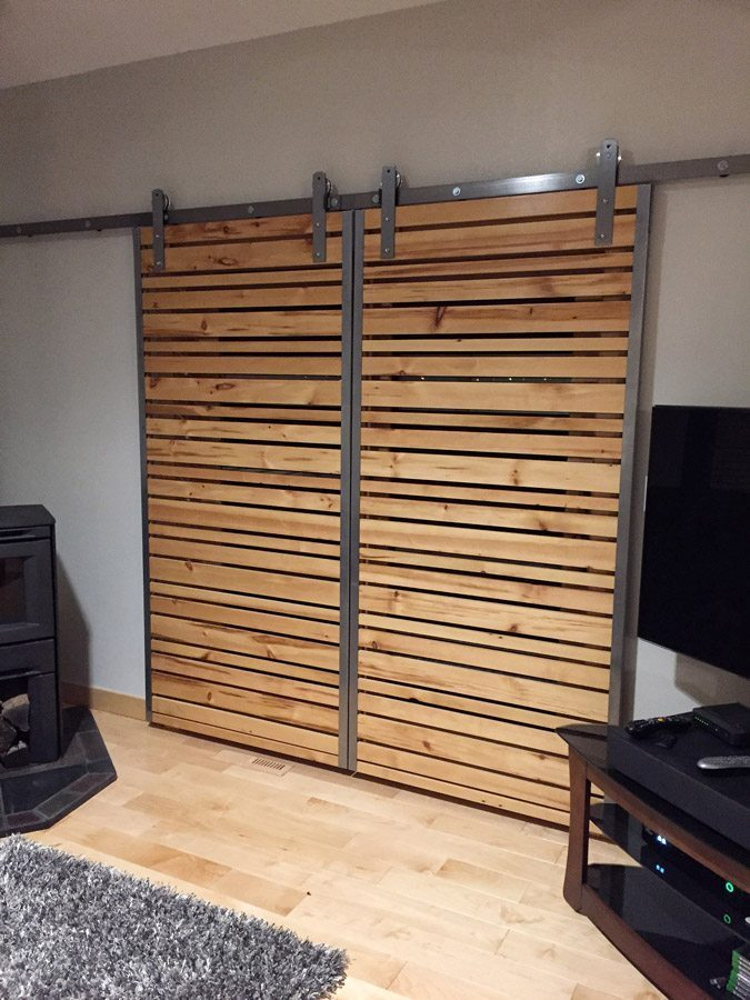 Horizontal Slatted Doors & Sliding Barn Door Guide S&le ...