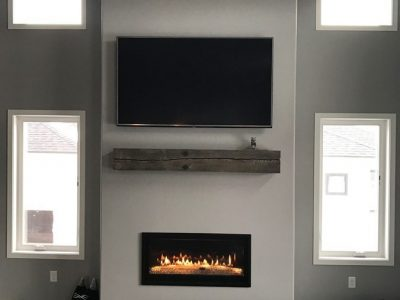 Grain Designs Reclaimed Timber Mantle with Custom Finish