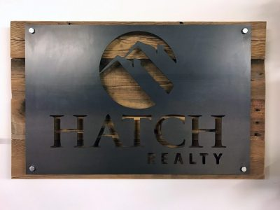 Reclaimed Wood and Steel Custom Wall Signage