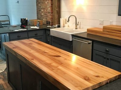 Custom Residential Wood Island Counter