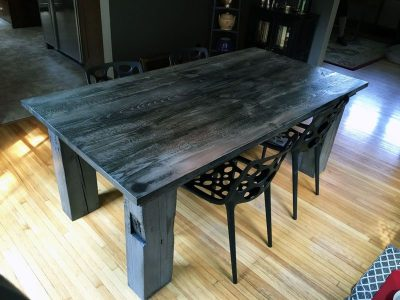 Frederick Farmhouse Timber Dining Table - Ebony Glaze