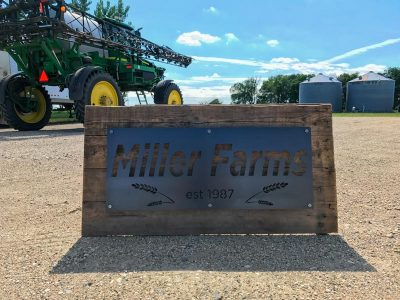 Custom Metal and Wood Farm Sign