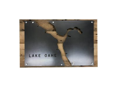 Lake-Oahe-Custom-Lake-Sign-Business-Wall-Art-Home-Decor-Sign-Metal-and-Rustic-Weathered-Wood