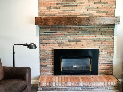 Custom Reclaimed Wood Mantle