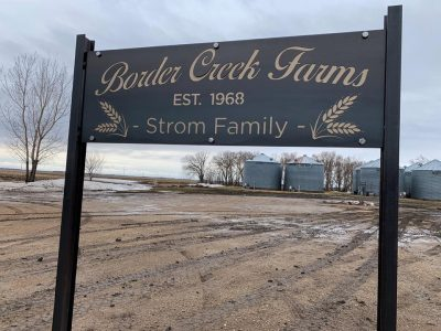 Border Creek Farms Custom I Beam Signage