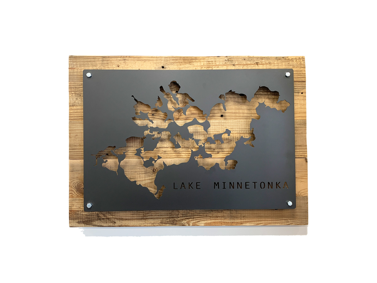 Custom Lake Sign Wall Decor Grain Designs